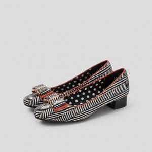 Ruby Shoo June Tweed Womens Mid Heels Shoes