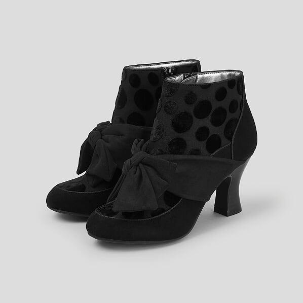 5db9081f2e Black Mid Heel Boot - Cassielle Shoe & Clothing Boutique
