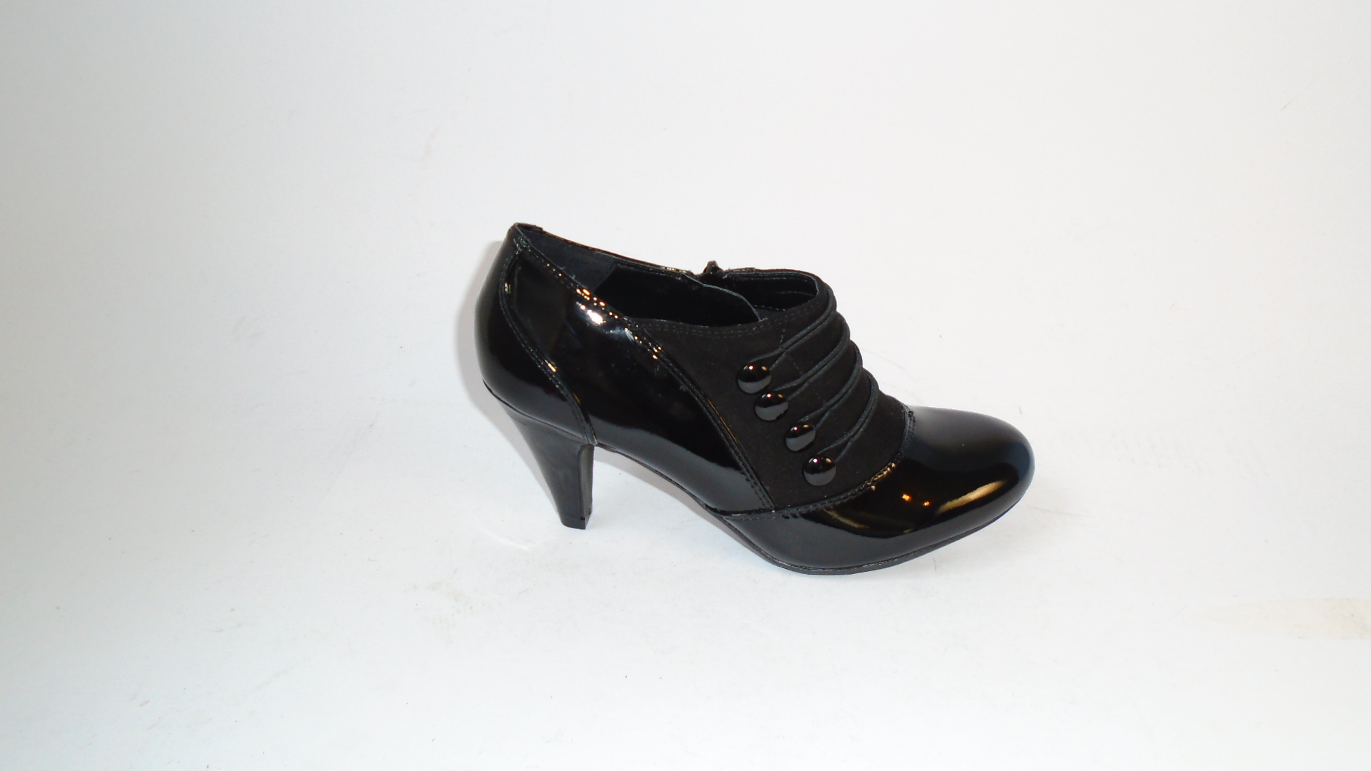 Lotus Black Patent and Check Shoe/Boot