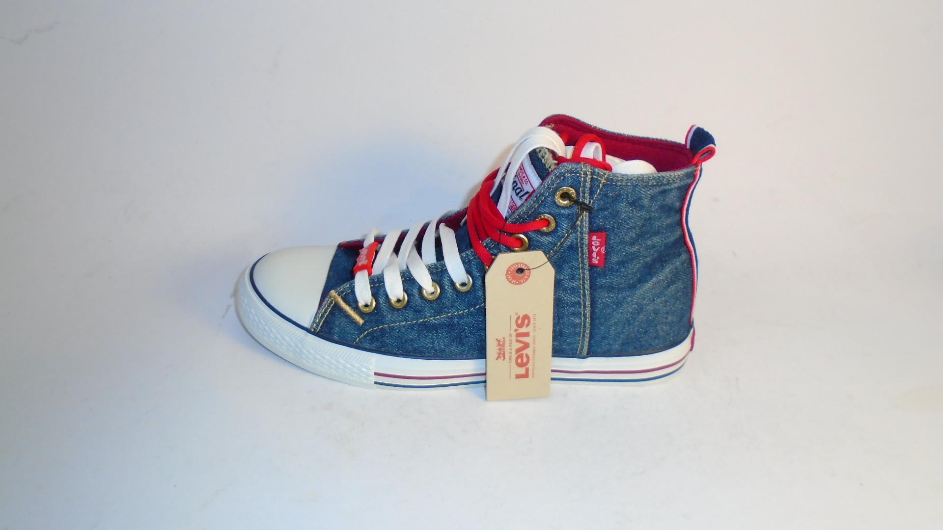 Levi's Denim Blue Trainer Ankle Boots
